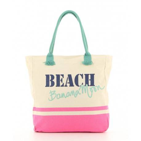 Sac shopping beach toile banana moon