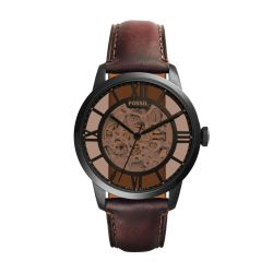 Fossil - Montre cuir marron Automatic (me3098)