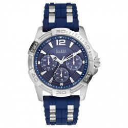 Guess - Montre homme Sport steel silicone (W0366G2)