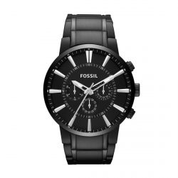 Fossil - Montre acier noir Mens Dress (fs4778)