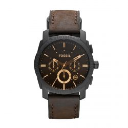 Fossil - Montre cuir marron Machine (fs4656)