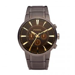 Fossil - Montre acier marron Mens Dress (fs4357)