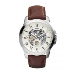 Fossil - Montre cuir marron Automatic (me3052)