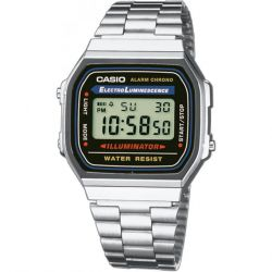 Casio - Montre casio vintage acier (a168wa-1yes)