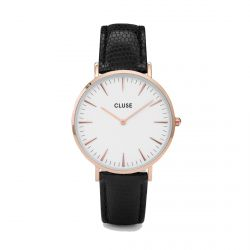 Cluse - Montre La Bohème Rose Gold White/Black Lizard (cl18037)