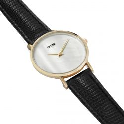 Cluse - Montre Minuit La Perle Gold White Pearl/Black Lizard (cl30048)