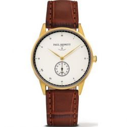 Paul Hewitt - Montre Signature cuir façon croco marron (ph-m1-g-w-14m)