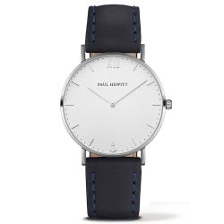Paul Hewitt - Montre Sailor cuir bleu marine (ph-sa-s-st-w-11)