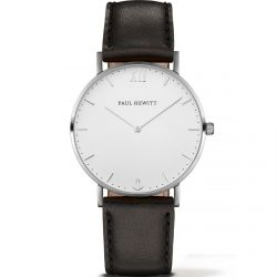 Paul Hewitt - Montre Sailor cuir noir (ph-sa-s-st-w-2m)