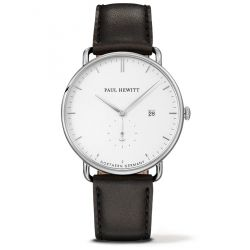 Paul Hewitt - Montre The Grand Atlantic Line cuir noir (ph-tga-s-w-2m)