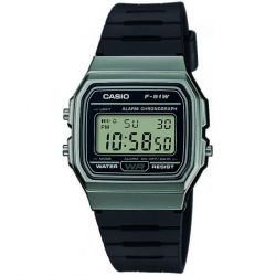 Casio - Montre Casio Collection résine noir (f-91wm-1bef)