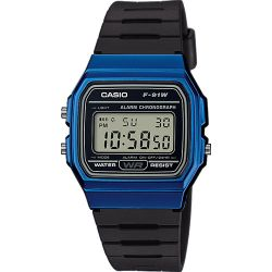 Casio - Montre Casio Collection résine noir (f-91wm-2aef)
