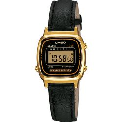 Casio - Montre Casio Collection cuir noir (la670wegl-1ef)