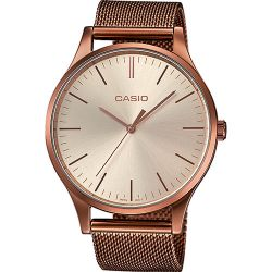 Casio - Montre Casio Collection maille milanaise doré rose (ltp-e140r-9aef)