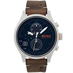 Hugo Boss - Montre homme bracelet cuir marron (1550021)