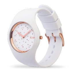 Ice Watch - Montre Ice Cosmos Swarovski silicone blanc (016297)