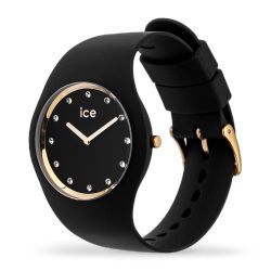 Ice Watch - Montre Ice Cosmos Swarovski silicone noir (016295)