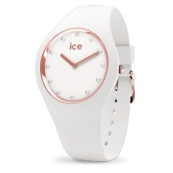 Ice Watch - Montre Ice Cosmos Swarovsky silicone blanc (016300)