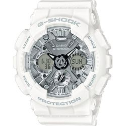 Casio - Montre homme G-Shock multifonction blanche (gma-s120mf-7a1er)