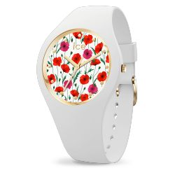 Ice Watch - Montre femme bracelet silicone Ice Flower White Poppy (016657)