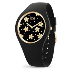 Ice Watch - Montre femme bracelet silicone Ice Flower Precious Black (016659)