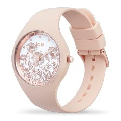 Ice Watch - Montre femme bracelet silicone Ice Flower Spring Nude (016663)