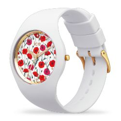 Ice Watch - Montre femme bracelet silicone Ice Flower White Poppy (016665)