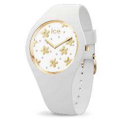 Ice Watch - Montre femme bracelet silicone Ice Flower Precious White (016667)
