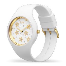 Ice Watch - Montre femme bracelet silicone Ice Flower Precious White (016658)