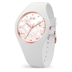 Ice Watch - Montre femme bracelet silicone Ice Flower Spring White (016662)