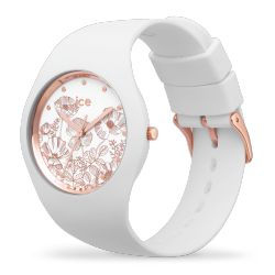 Ice Watch - Montre femme bracelet silicone Ice Flower Spring White (016669)