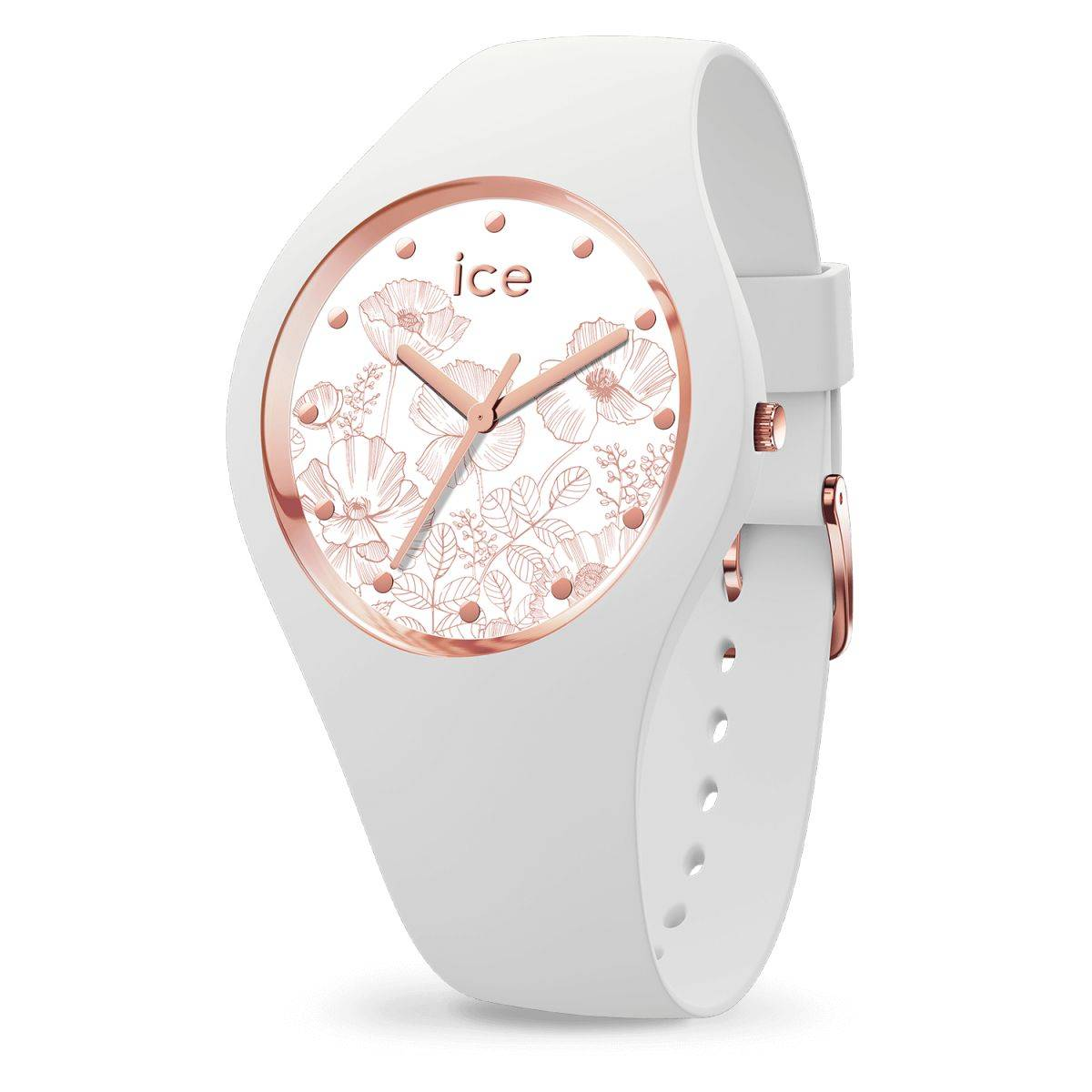 ad0a1760f137e Ice Watch - Montre Femme Bracelet Silicone Ice Flower Spring White (016669)  Vue Principale ...