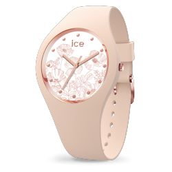 Ice Watch - Montre femme bracelet silicone Ice Flower Spring Nude (016670)