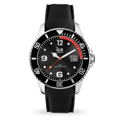 Ice Watch - Montre noire homme bracelet silicone Ice Steel (015773)