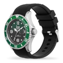 Ice Watch - Montre noire homme bracelet silicone Ice Steel (015769)