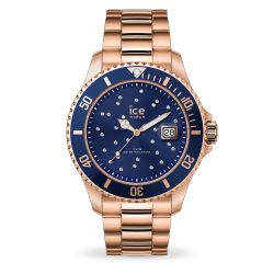Ice Watch - Montre rose gold cristaux de Swarovski mixte bracelet métal Ice Steel (016774)