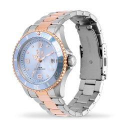 Ice Watch - Montre argentée rose gold mixte bracelet métal Ice Steel (016770)