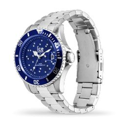 Ice Watch - Montre argentée cristaux de Swarovski mixte bracelet métal Ice Steel (016773)