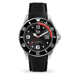 Ice Watch - Montre noire homme bracelet silicone Ice Steel (016030)