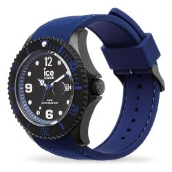 Ice Watch - Montre bleue homme bracelet silicone Ice Steel (015783)