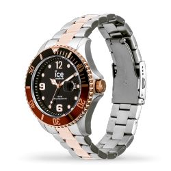 Ice Watch - Montre argentée rose gold mixte bracelet métal Ice Steel (016548)