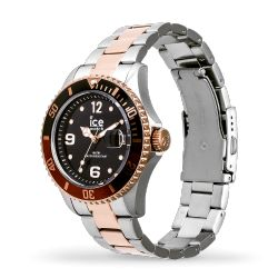 Ice Watch - Montre argentée rose gold mixte bracelet métal Ice Steel (016546)