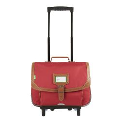 Tann's - Cartable à roulettes rouge 38cm CE1/CE2 Madrid (42117)