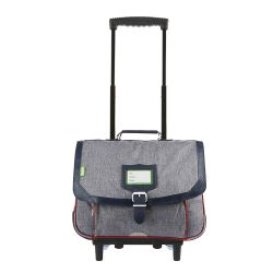 Tann's - Cartable à roulettes gris 38cm CE1/CE2 Light (42138)