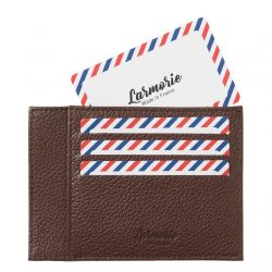 Larmorie - Porte-cartes homme en cuir grainé Made in France Paul