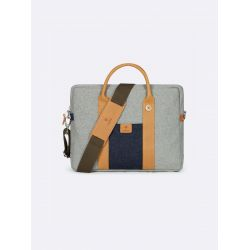 "Faguo - Porte-documents homme ordinateur 15"" laine et cuir Laptop (f19lu0403)"