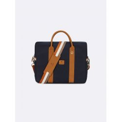 "Faguo - Porte-documents homme ordinateur 15"" coton déperlant et cuir Laptop (s19lu0143)"