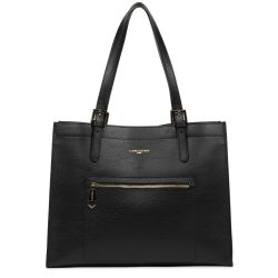 Lancaster - Grand sac cabas intemporel femme en cuir Foulonné Double (470-24)