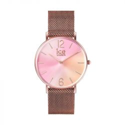Ice Watch - Montre femme bracelet maille milanaise doré rose Ice Sunset (016025)